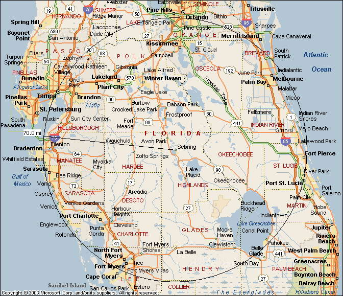 About Highlands County: Map Of West Central Florida Counties At Usa Maps